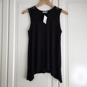 🍃2 for $25🍃 Black Tank Top with Lace